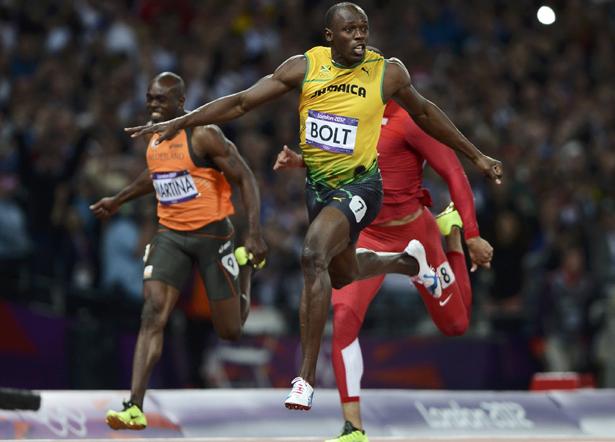Usain Bolt wins Olympic 100m GOLD at London 2012   VA Garments