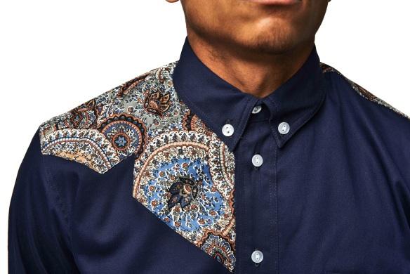 VA Innovation Navy shirt close up